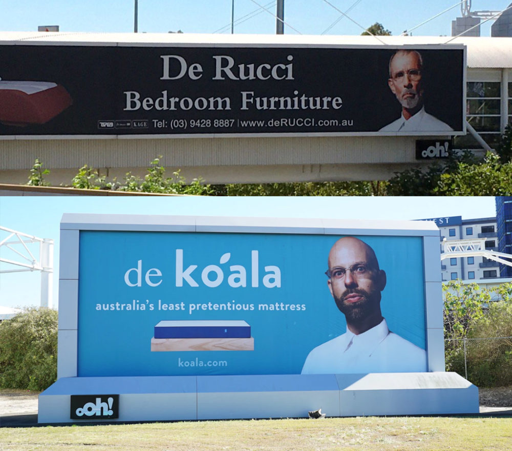 Koala's category challenging advertising.