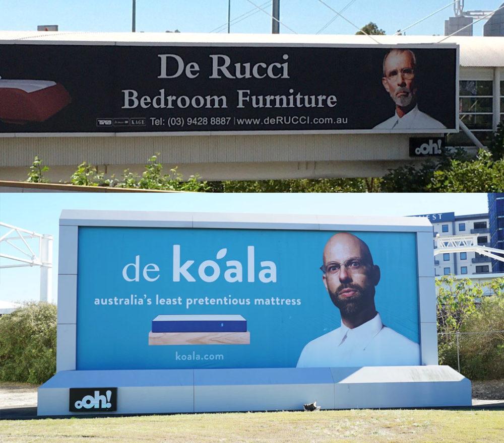 Koala's category challenging advertising.