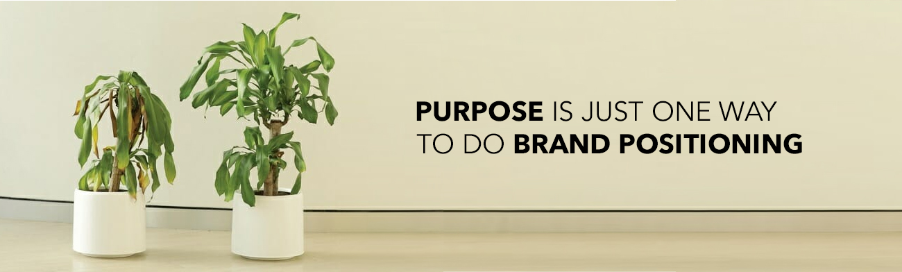 Purpose is just one way to do brand positioning.